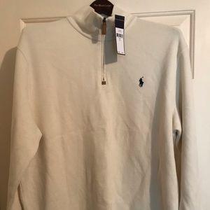 Polo by Ralph Lauren Sweaters - Polo Ralph Lauren Cream/White Half Zip Sweater